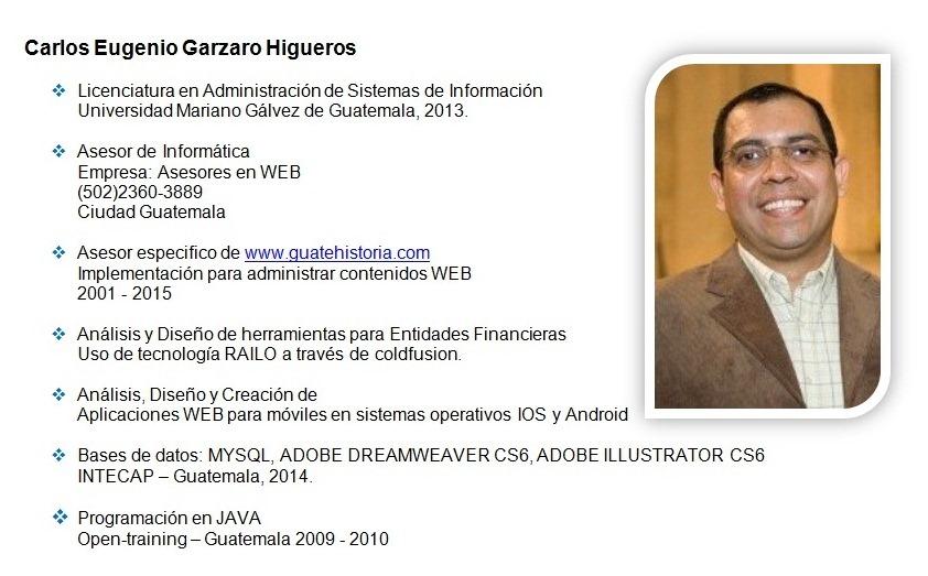 Hoja de Vida de Carlos Garzaro