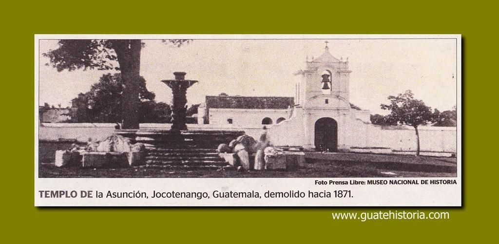Templo de la Asunción, Jocotenango 1871