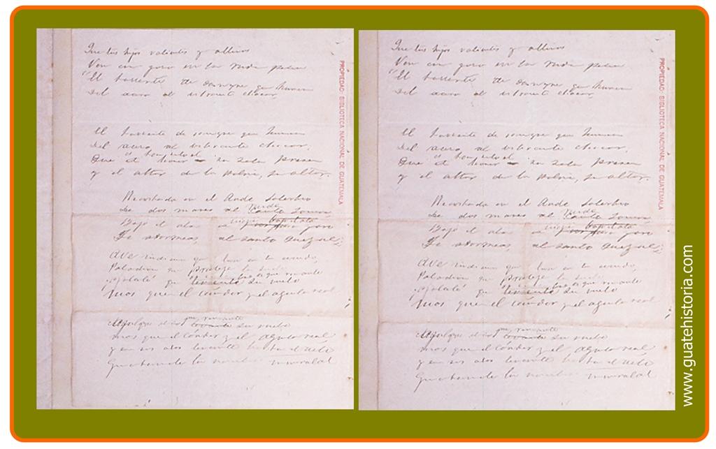 Siguientes páginas del Himno Nacional
